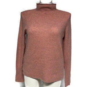NEW Madewell Pink Turtleneck Sweater SZ L